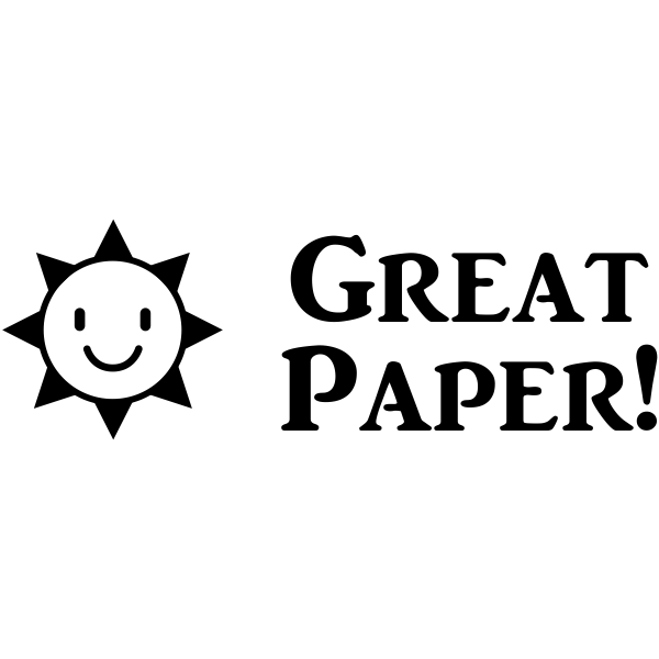 Great Paper Teacher Craft Stamp