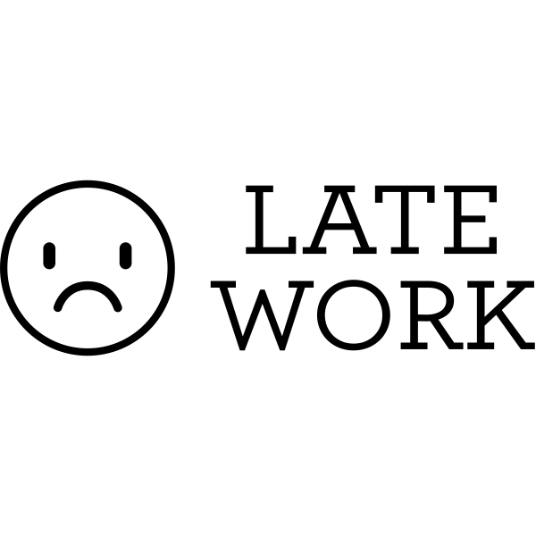 Late Work Sad Face Teacher Craft Stamp
