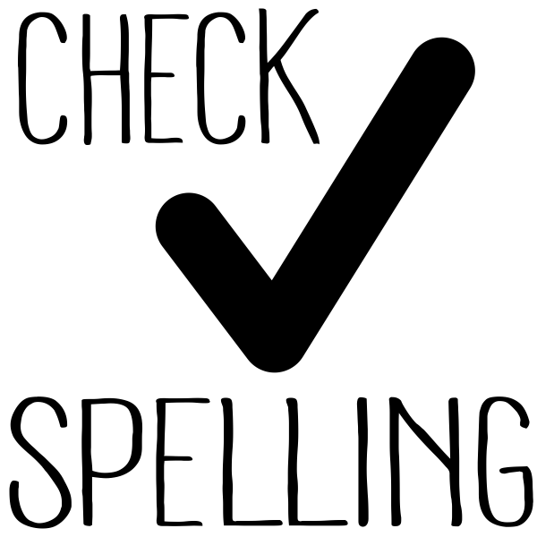 Check Spelling Teacher Craft Stamp