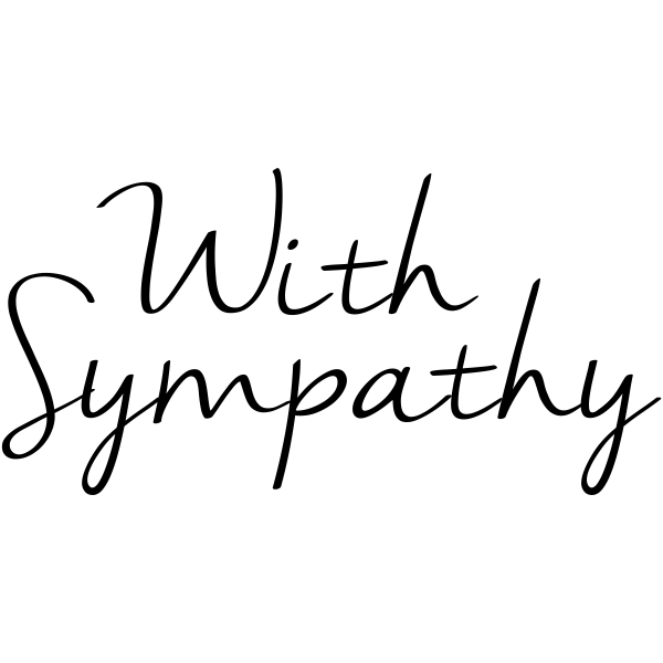 With Sympathy Craft Stamp
