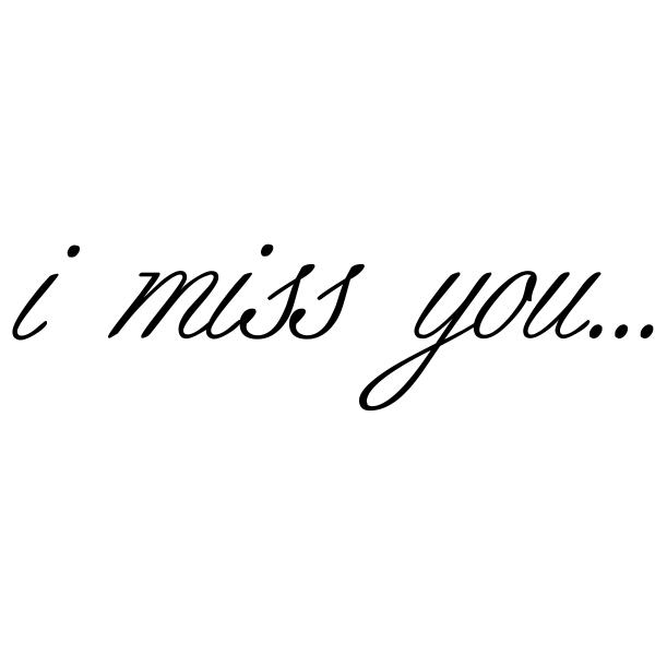 i miss you... Craft Stamp