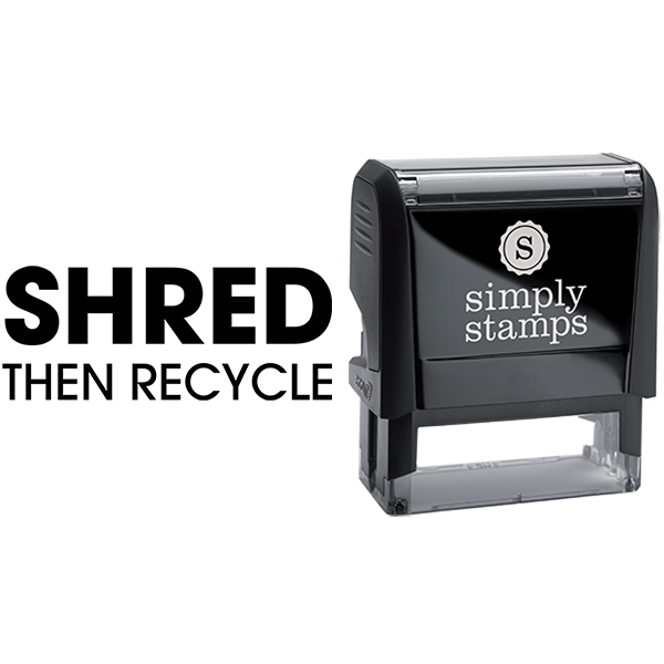 Shred Then Recycle Business Stamp