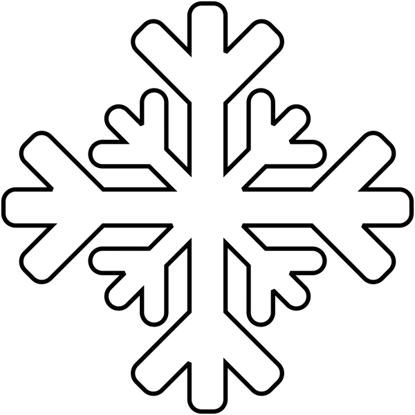 Snow Weather Journal Stamp