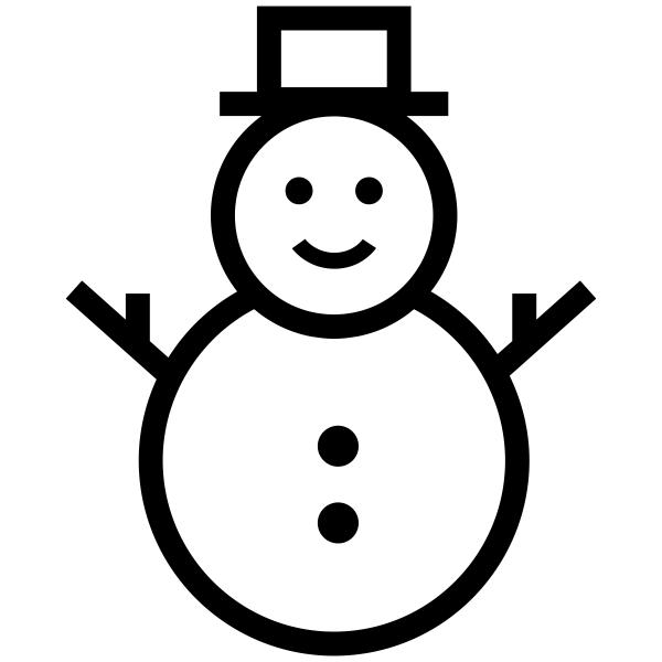 Snowman Craft Rubber Stamp