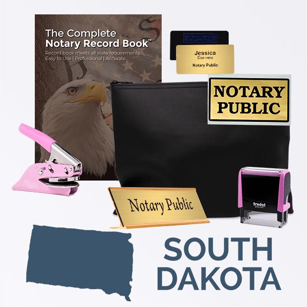 South Dakota Pink Deluxe Notary Kit