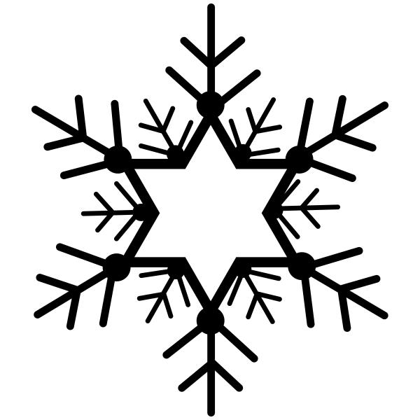 Star of David Snowflake Craft Stamp