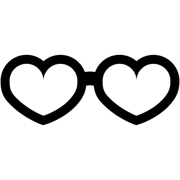 Heart Sunglasses Craft Stamp