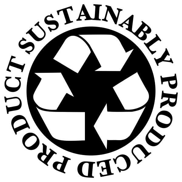 Sustainably Produced Product Rubber Stamp