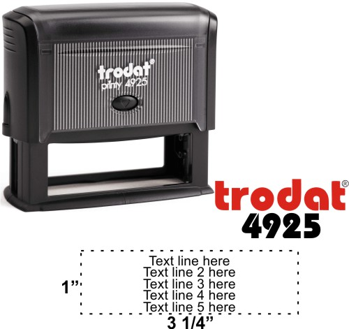 Trodat Printy 4925   Ideal 5790 5 Line Self-Inking Stamp - Simply Stamps