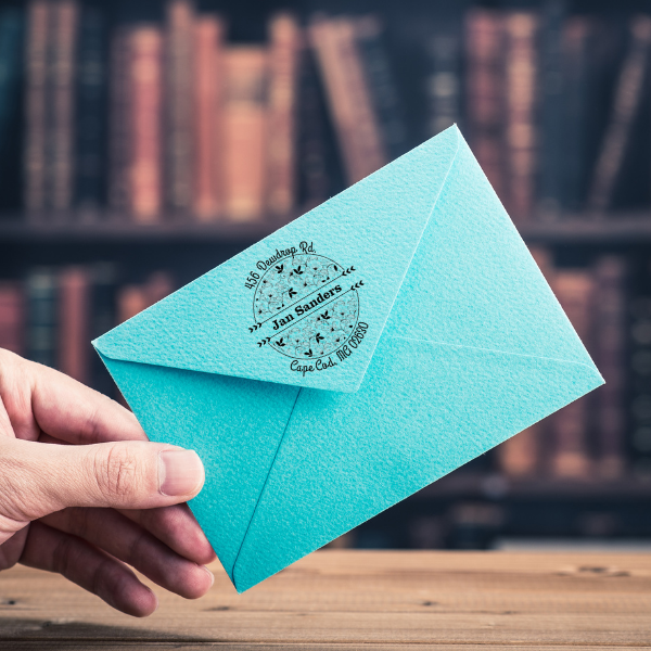 Sanders Return Address Stamp Imprint Example