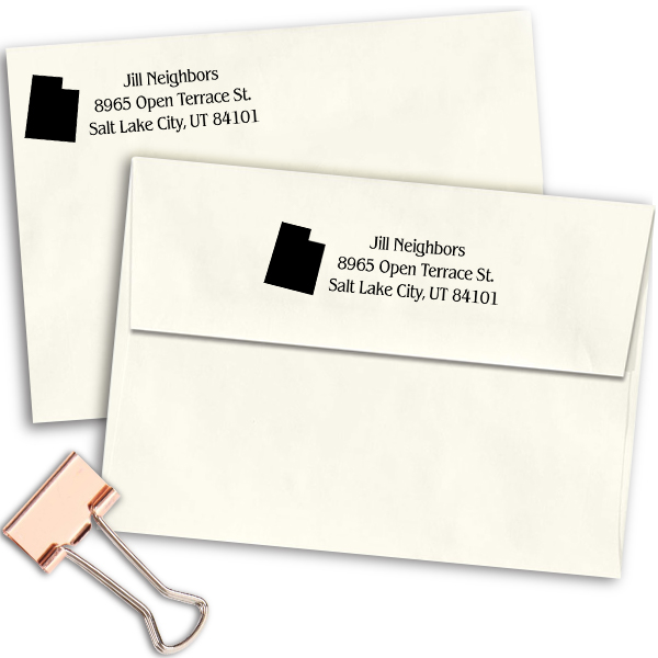 Utah Return Address Stamp Imprint Example
