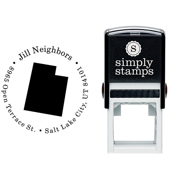 Utah Round Address Stamp Body and Design
