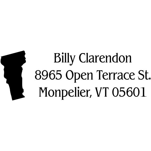 Vermont Return Address Stamp