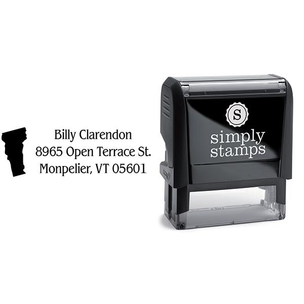 Vermont Return Address Stamp Body and Design