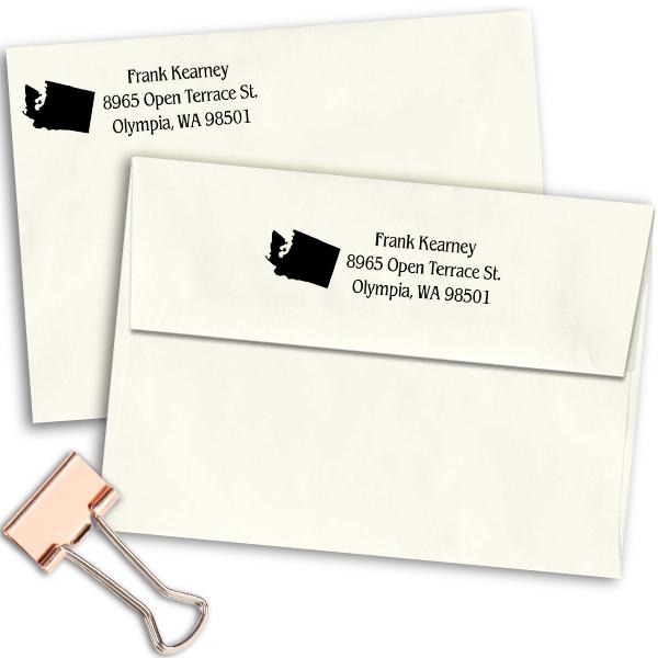 Washington Return Address Stamp Imprint Example