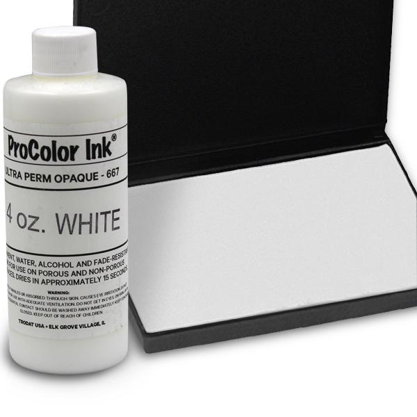 White 4oz SuperMarking Ink w/ Medium Pad