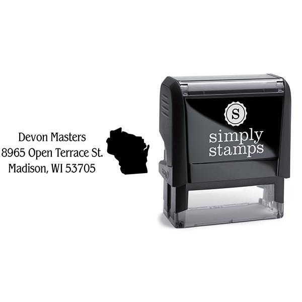 Wisconsin Return Address Stamp Body and Design