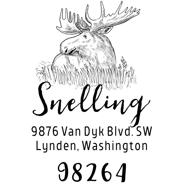 Moose Return Address Stamp