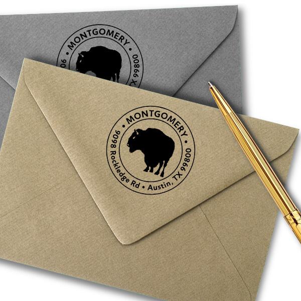 Buffalo Return Address Stamp Imprint Example