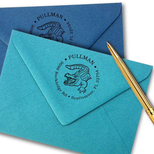 Alligator Return Address Stamp Imprint Example