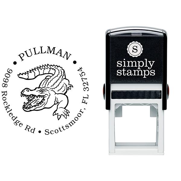 Alligator Return Address Stamp Body and Design