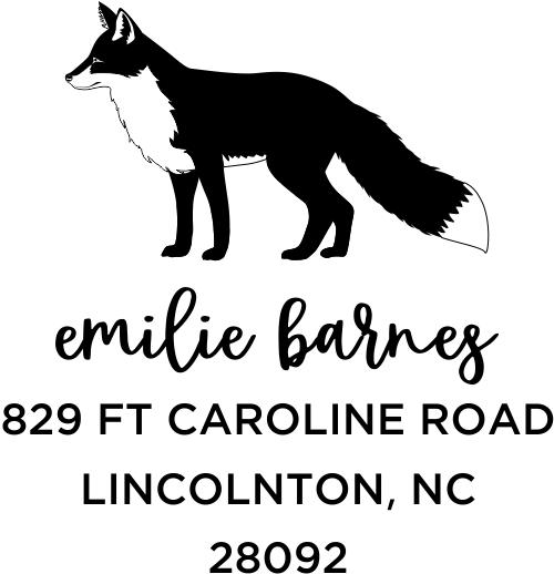 Red Fox Custom Animal Return Address Stamp