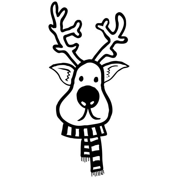Winter Reindeer Craft Stamp