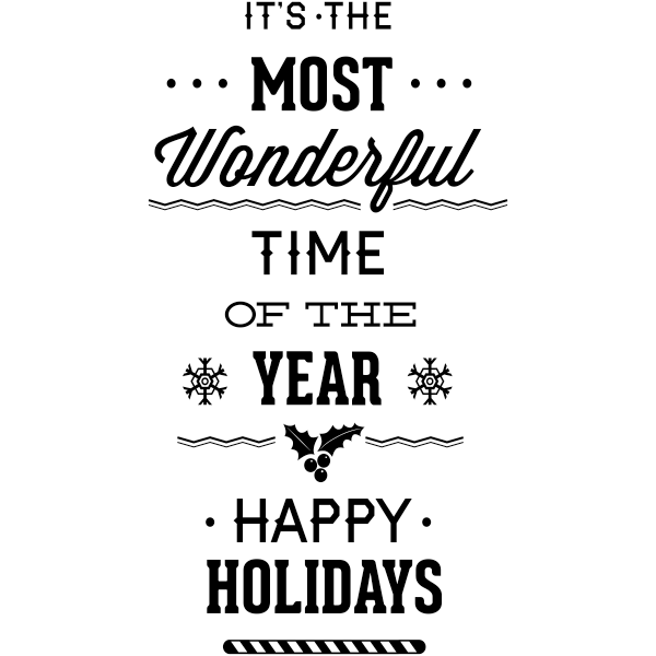 Wonderful Time of the Year Craft Rubber Stamp
