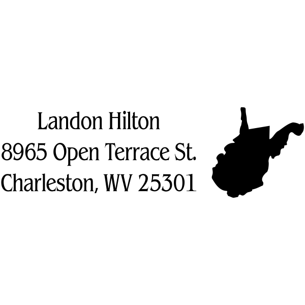 West Virginia Custom Address Stamp