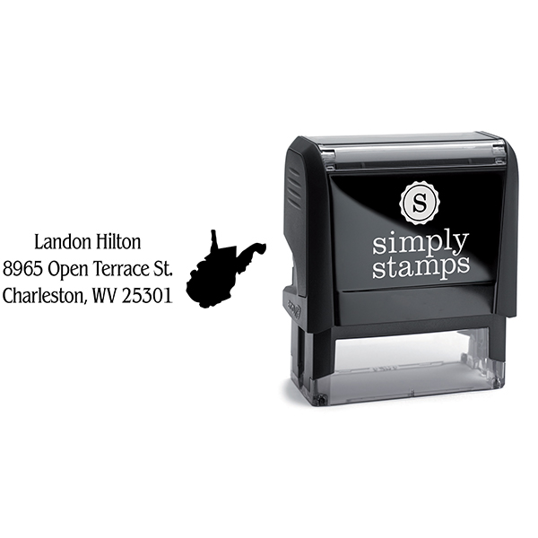 West Virginia Return Address Stamp Body and Design