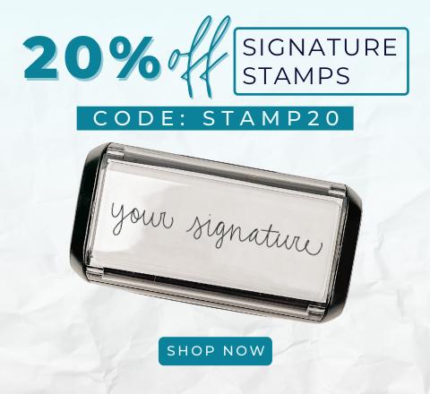 20% Off Signature Stamps! Code:STAMP20