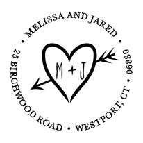 bonnie marcus heart arrow address stamp