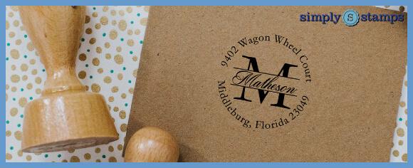 Address Stamp on Envelope