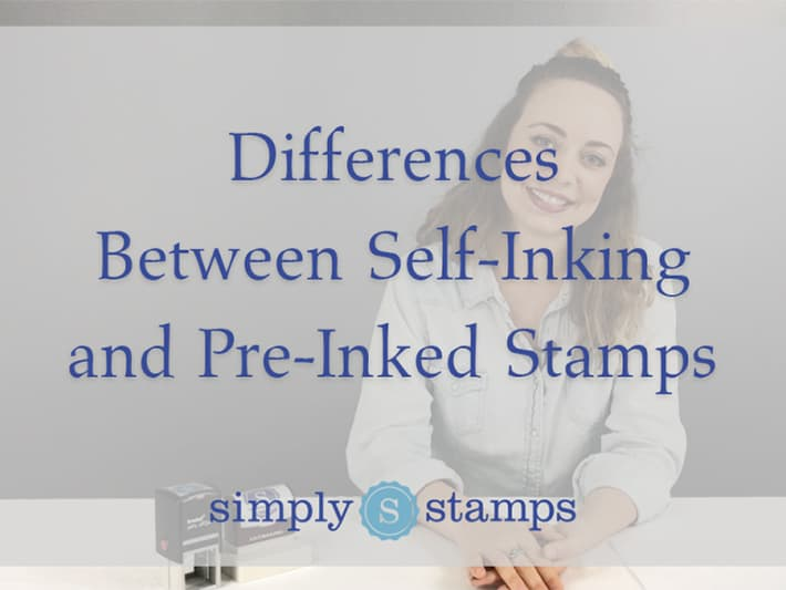Differences Between Self-Inking and Pre-Inked Stamps, Woman Sitting with Stamps at a Desk