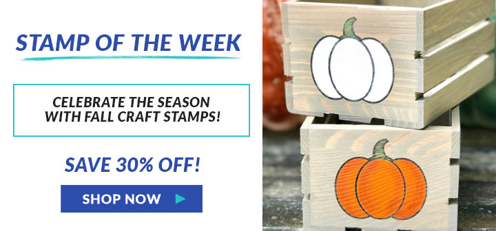 Celebrate the season with fall craft stamps, save 30% off, shop now!