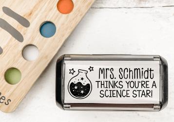 self-inking teacher stamp