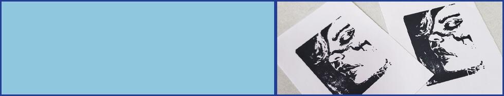 Custom Artwork Stamp Impression on Paper Cards