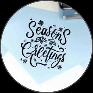 Christmas Address Stamps