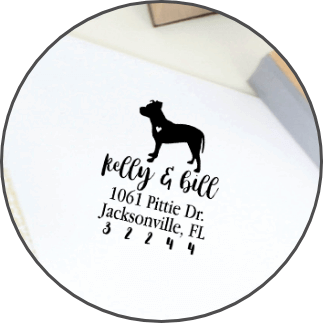 Dog Address Stamps
