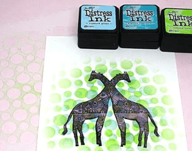 Craft card with two giraffes