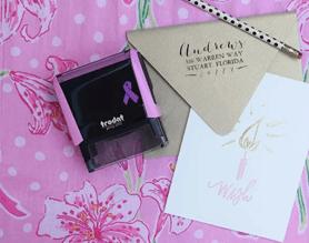 custom breast cancer awareness stamp