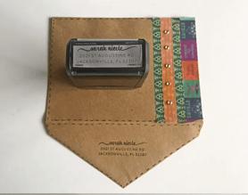 Custom envelope with address stamp