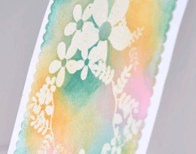 Card craft with rubber stamp
