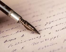 pen writing handwritten letter