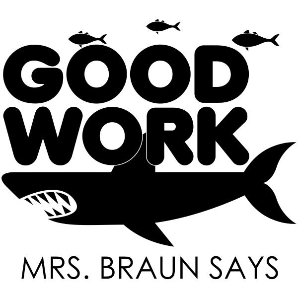 Good Work Custom Shark Teacher Stamp