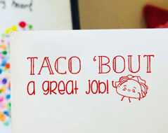 Taco Bout a Great Job Teacher Grading Stamp