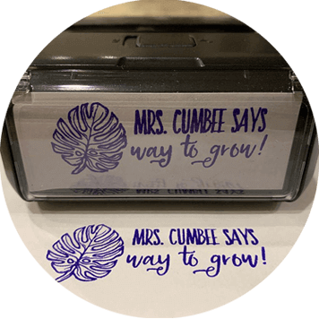 Custom Way to Grow Teacher Stamp