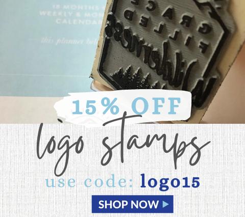 15% Off Logo Stamps! Code:LOGO15